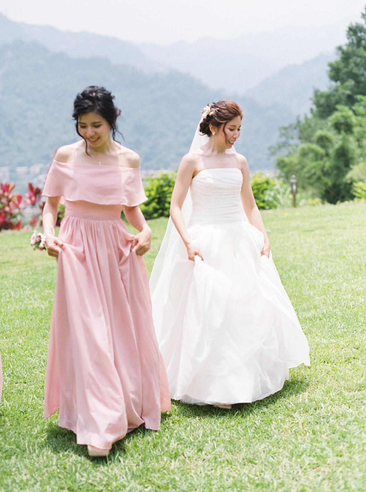 粉紅伴娘禮服