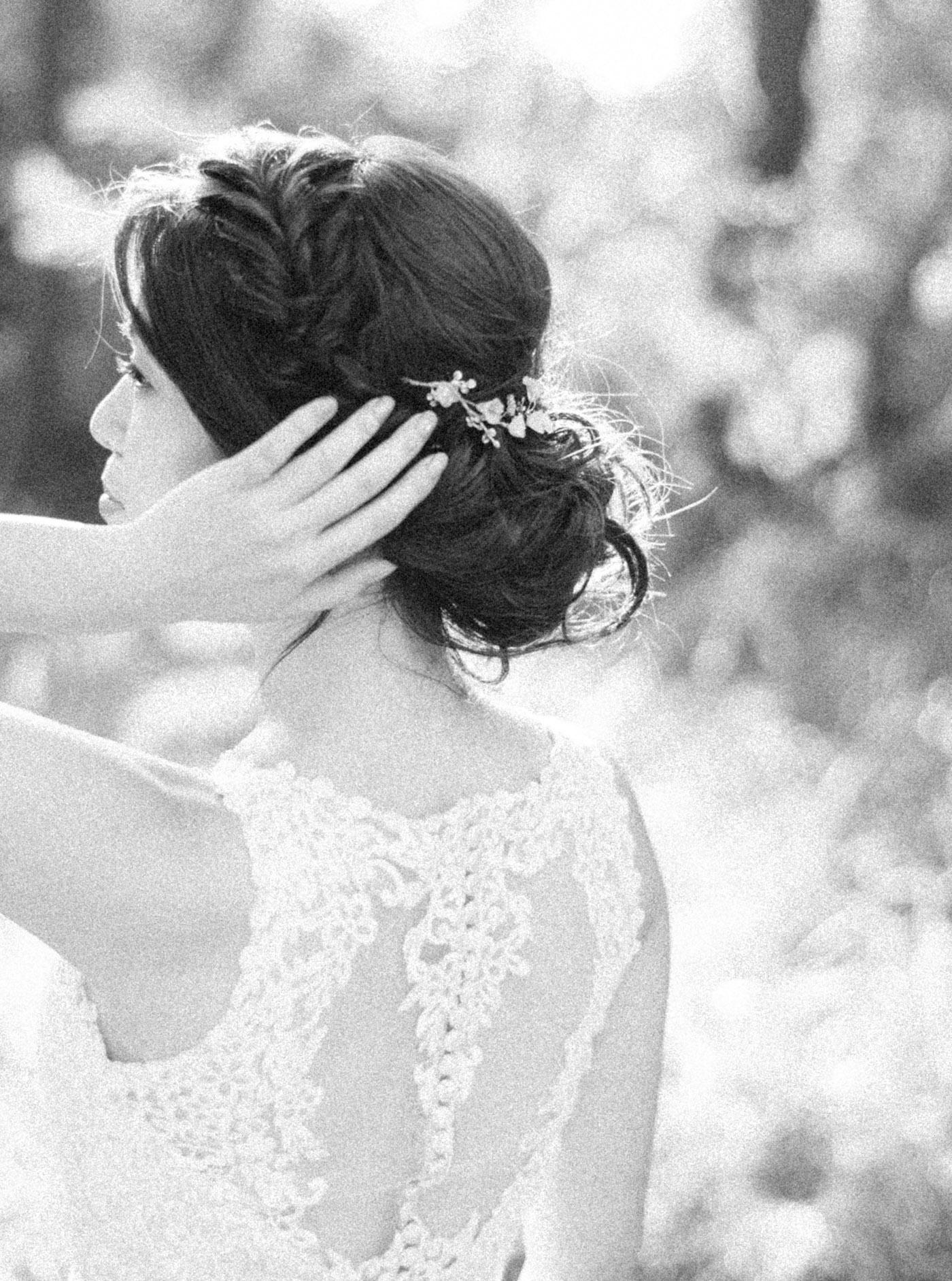 美式-黑白照-編髮-Chico-婚紗-STAGE-底片-Mark-唯諾禮服