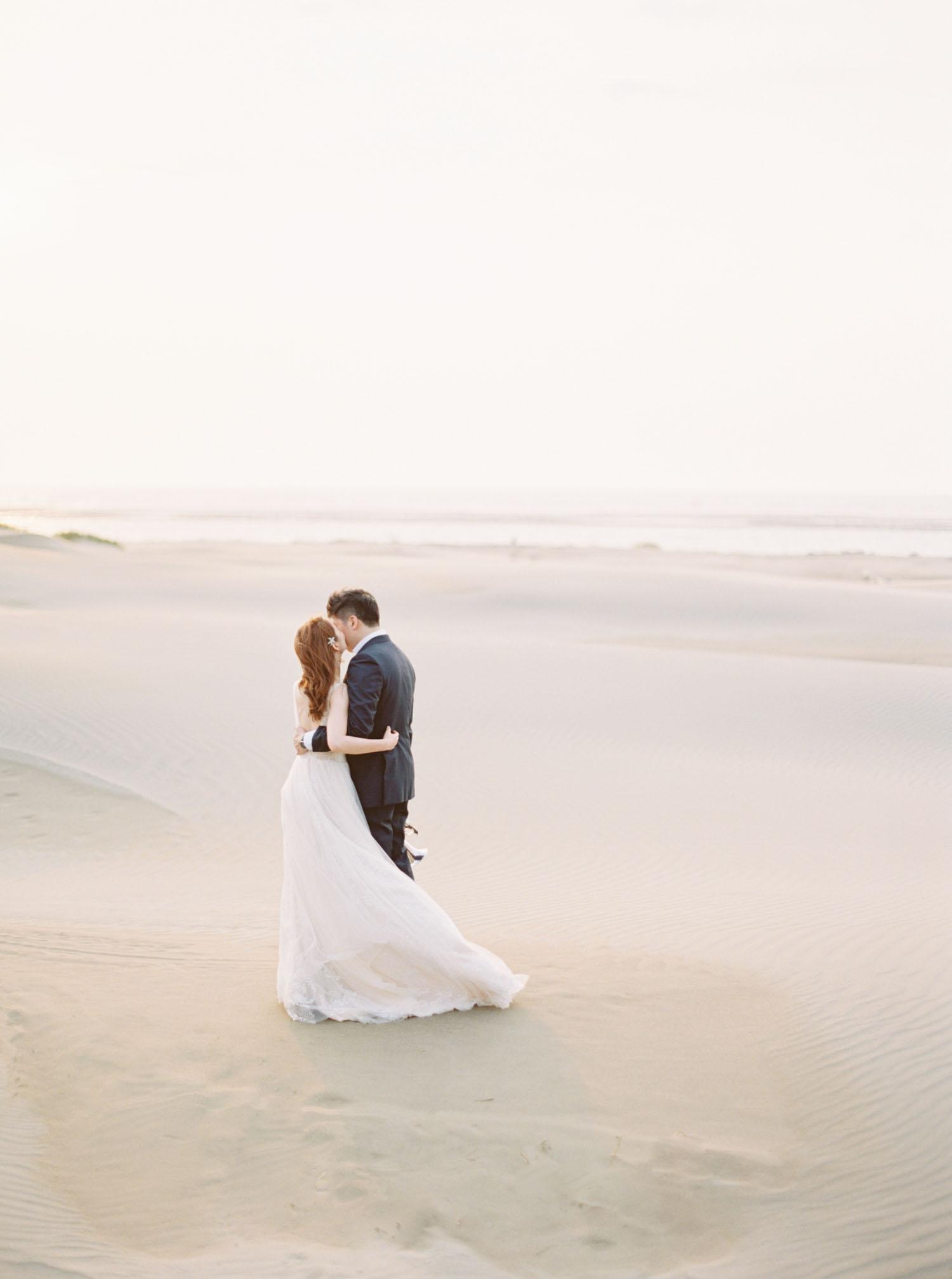 香山 婚紗-Fine-Art-沙漠-海灘-底片-婚紗-逆光