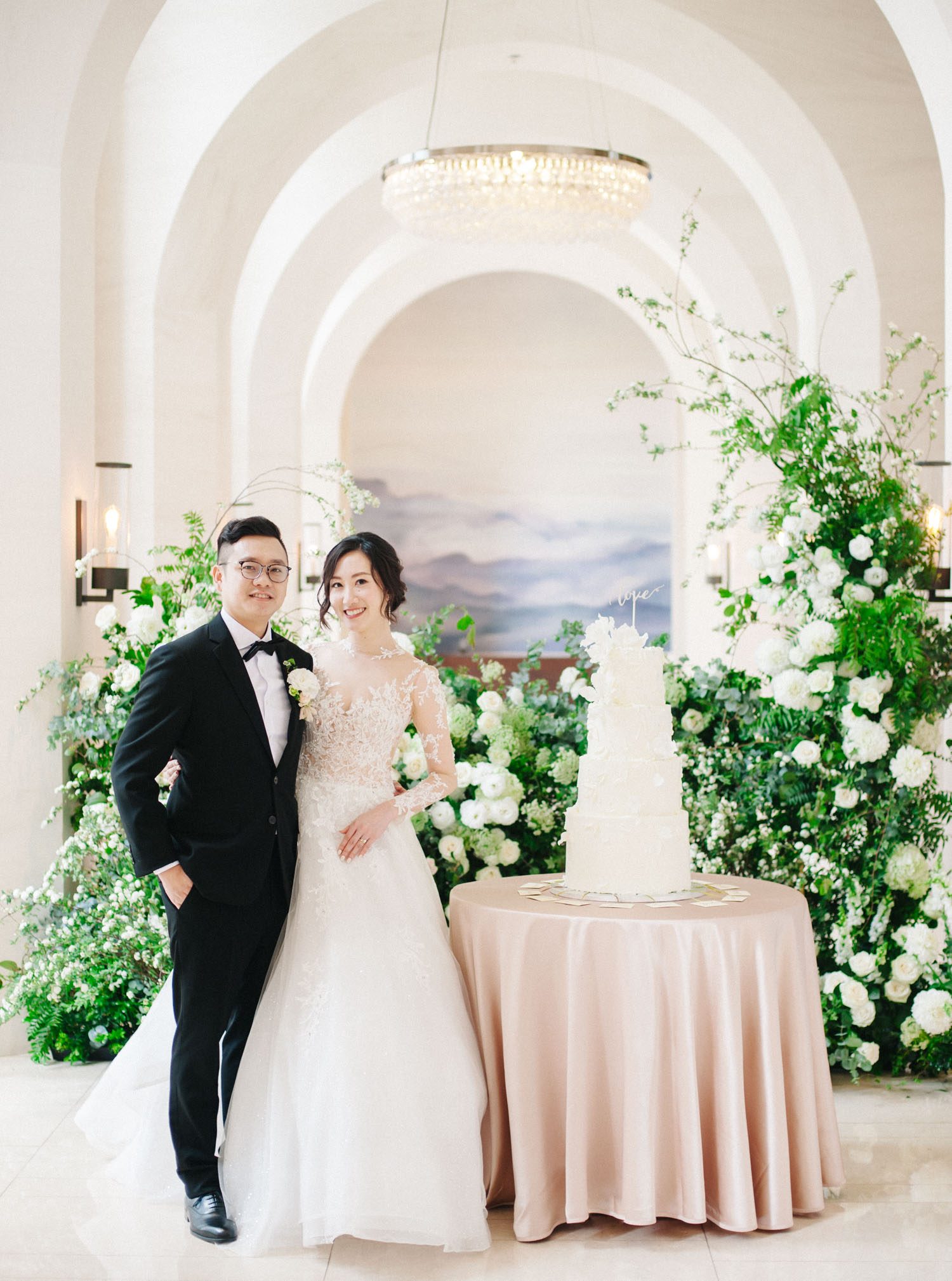 戶外婚禮-萬豪酒店-婚禮蛋糕-Ying Cake