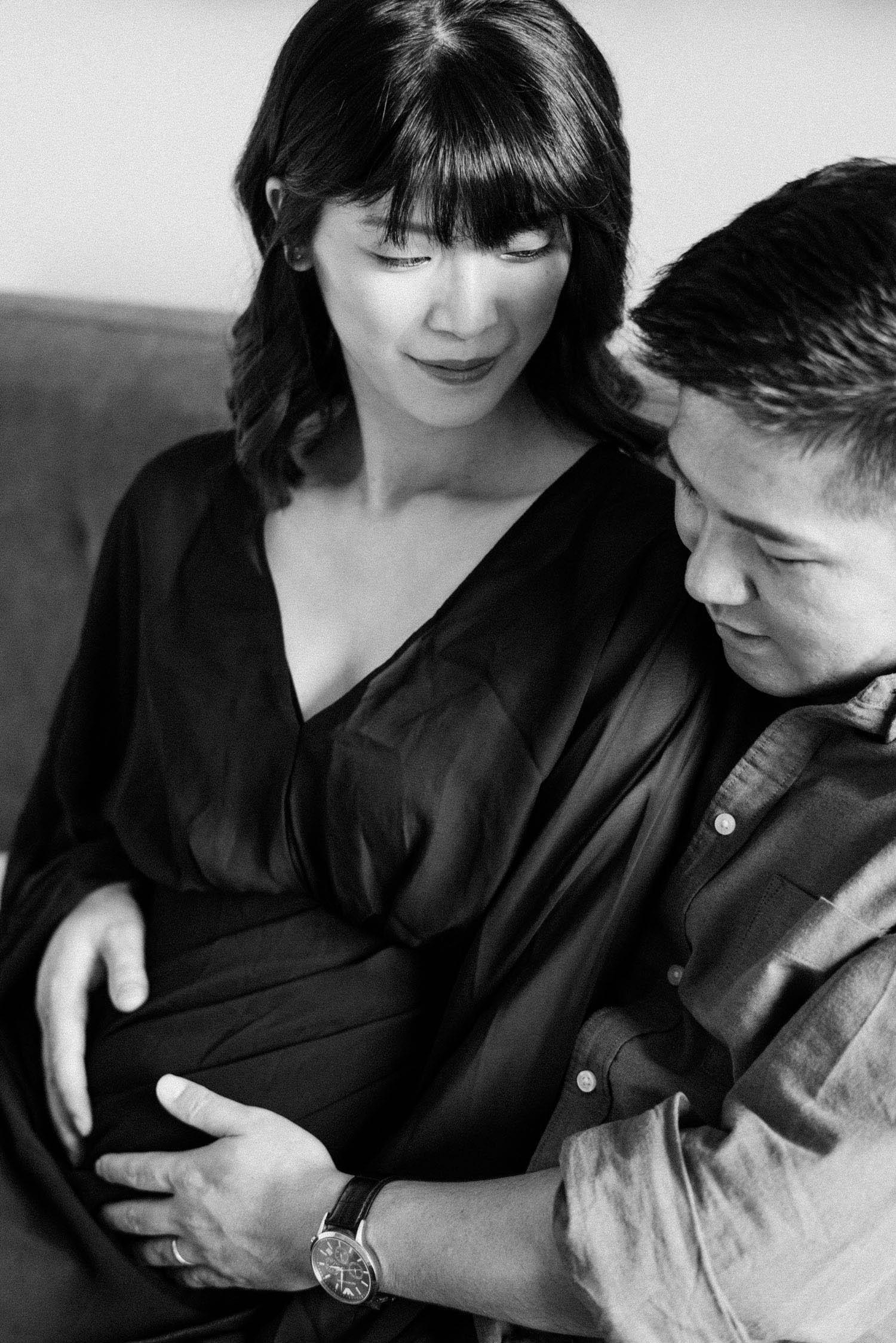 孕期寫真 底片 黑白照片 Maternity Mark Hong