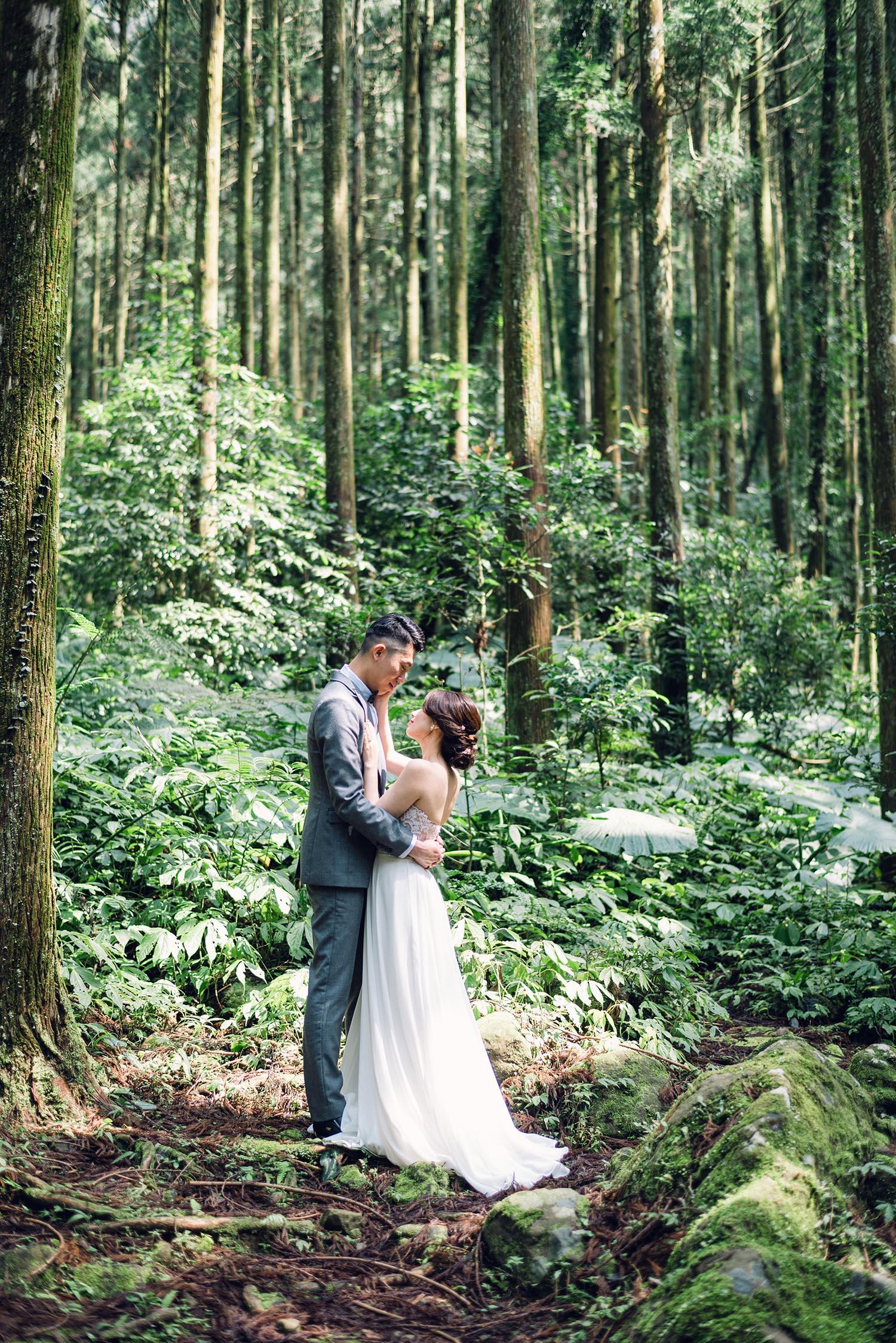 旅遊婚紗 森林-馬武督森林-婚紗-情感婚紗-唯諾法式禮服-吉兒梁-新娘捧花-Chico-STAGE