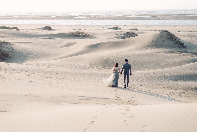 沙漠婚紗-情感婚紗-唯諾法式禮服-吉兒梁-新娘捧花-Chico-STAGE