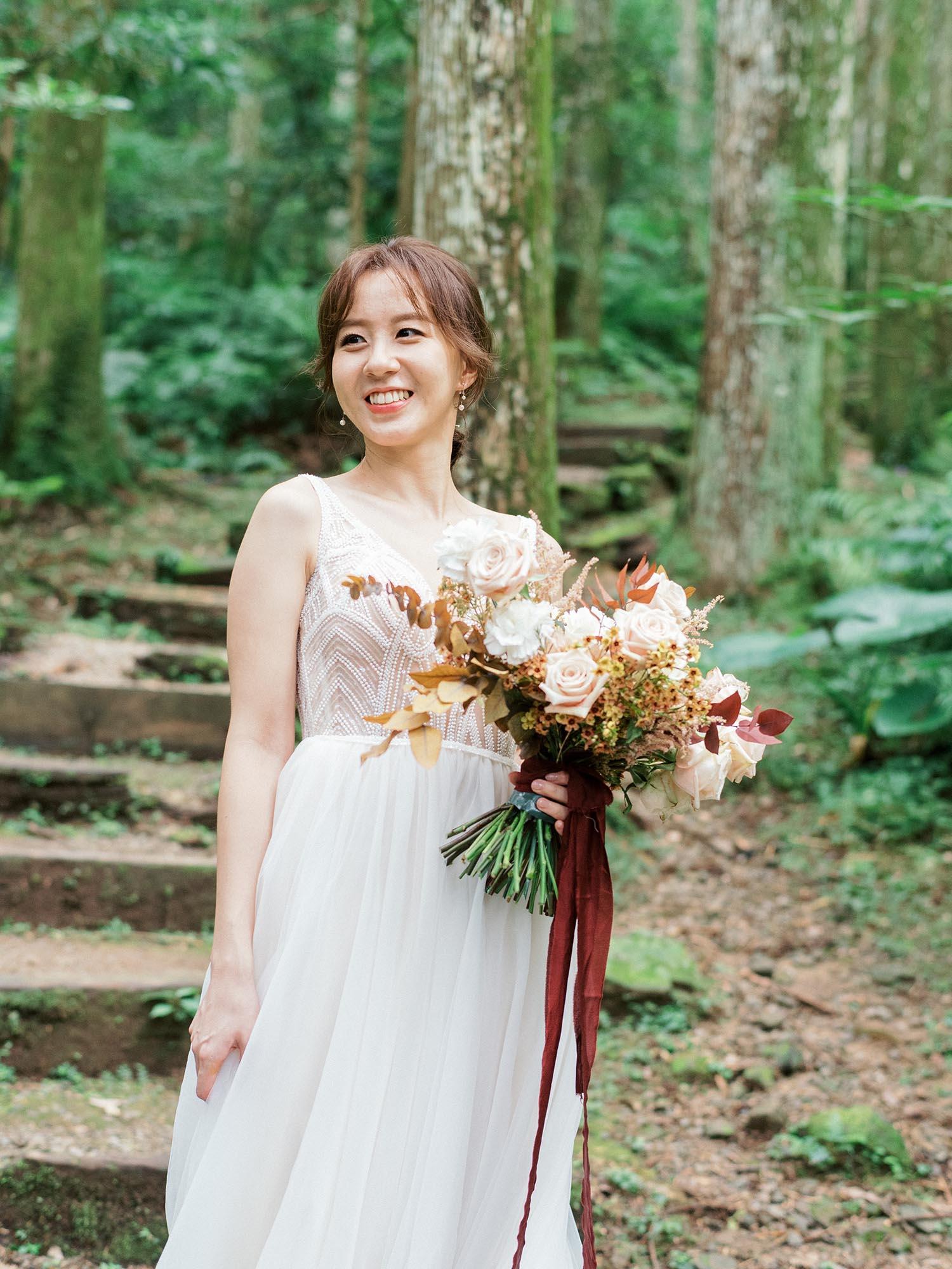 底片婚紗-森林-東眼山-美式婚紗-唯諾法式
