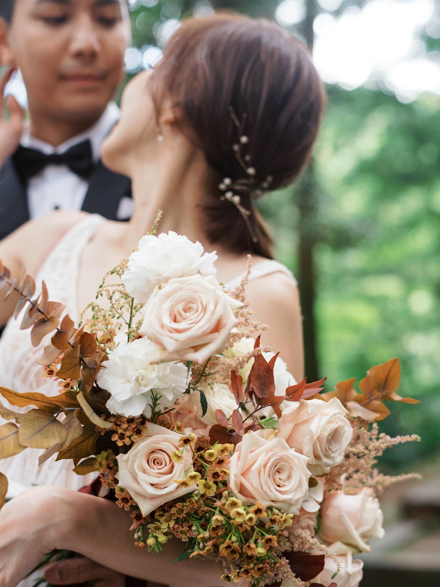 新娘捧花-吉兒梁-森林-東眼山-美式婚紗-唯諾法式-